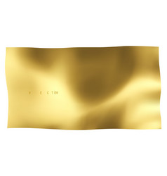 gold sheet on white background vector image