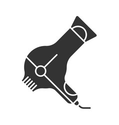Hair dryer glyph icon blow dryer with vector