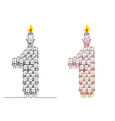 Hand drawn cartoon characters - birthday candle 1 vector