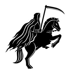 Horseman death with a scythe vector