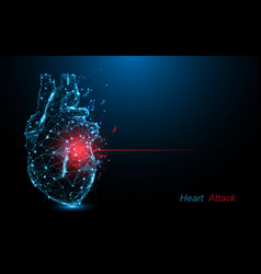 Human heart attack heart disease vector