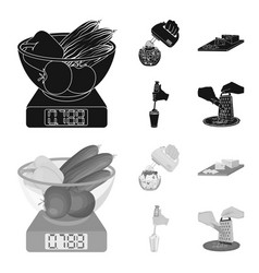 Jam diet accessories and other web icon in vector