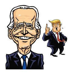 Joe biden elected president us and donald trump vector