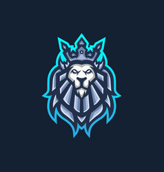 Lion king esport gaming mascot logo template for vector