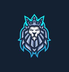 lion king esport gaming mascot logo template vector image
