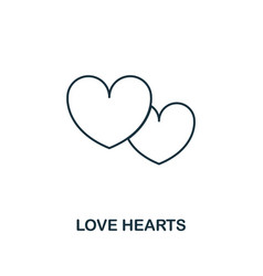 love hearts outline icon premium style design vector image