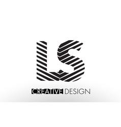 ls l s lines letter design with creative elegant vector image