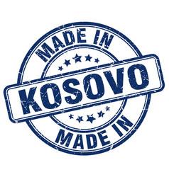 Made in kosovo blue grunge round stamp vector