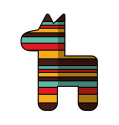 Mexican pinata party icon vector