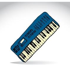 Music keyboard vector
