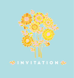Naive style hand drawn decorative marigold vector