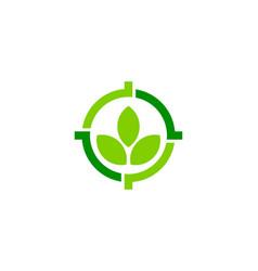 nature target logo icon design vector image