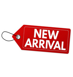 new arrival label or price tag vector image
