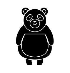panda cute icon black sign vector image