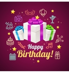 Party Invitation Birthday Card vector image