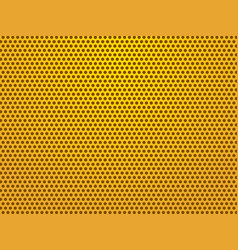 perforated gold sheets background vector image