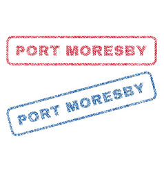 Port moresby textile stamps vector
