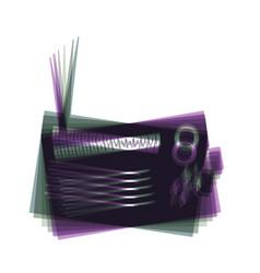 Radio sign colorful icon vector