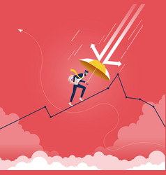 Recession financial storm concept-businessman vector