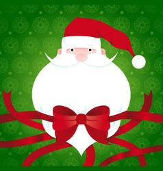 santa claus beard label vector image