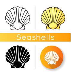 scallop shell icon vector image