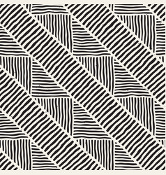 seamless geometric lines pattern in black and vector image
