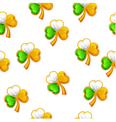 seamless pattern with jewellery clovers vector image