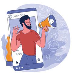 social media influencer at work vector image