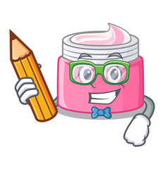Student face cream in the cartoon form vector