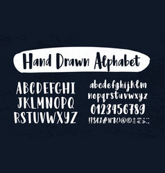 Stylish hand drawn english alphabet collection of vector