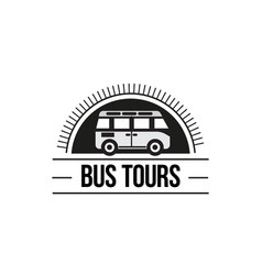 The bus trip logo vector