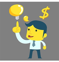Think Man Money vector image