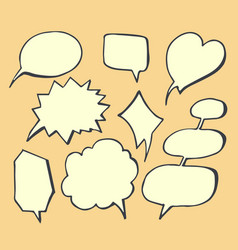 thought bubbles hand drawn vector image