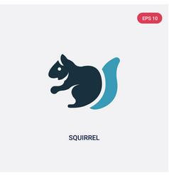 Two color squirrel icon from animals concept vector