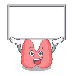 Up board thyroid character cartoon style vector