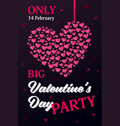 valentines day card with a modern lettering and vector image