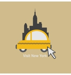 Visit New York city and choose a taxi vector image