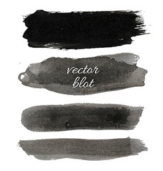 Big Black Blot Collection vector image vector image