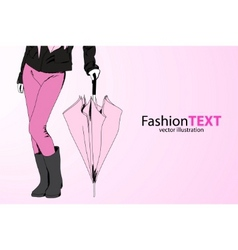 fashion lady vector image