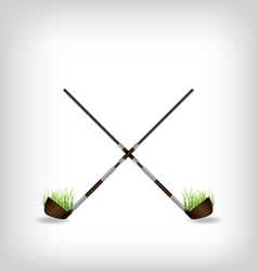 Golf stick vector image vector image