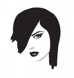 pretty lady vector image