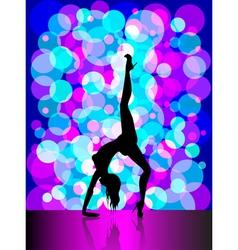 Sexy pole dancing vector image