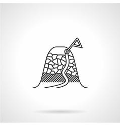 Black icon for mountain peak vector image vector image