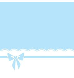 bow and lace border vector image