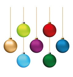 Christmas balls set vector image vector image