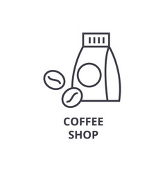 coffee shop line icon outline sign linear symbol vector image vector image