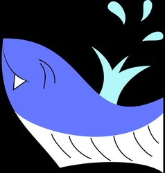 Happy whale vector image