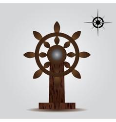nautical wood rudder eps10 vector image vector image