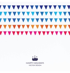 Party Flags Set vector image vector image