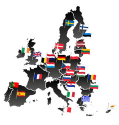 simple all european union countries in one map vector image